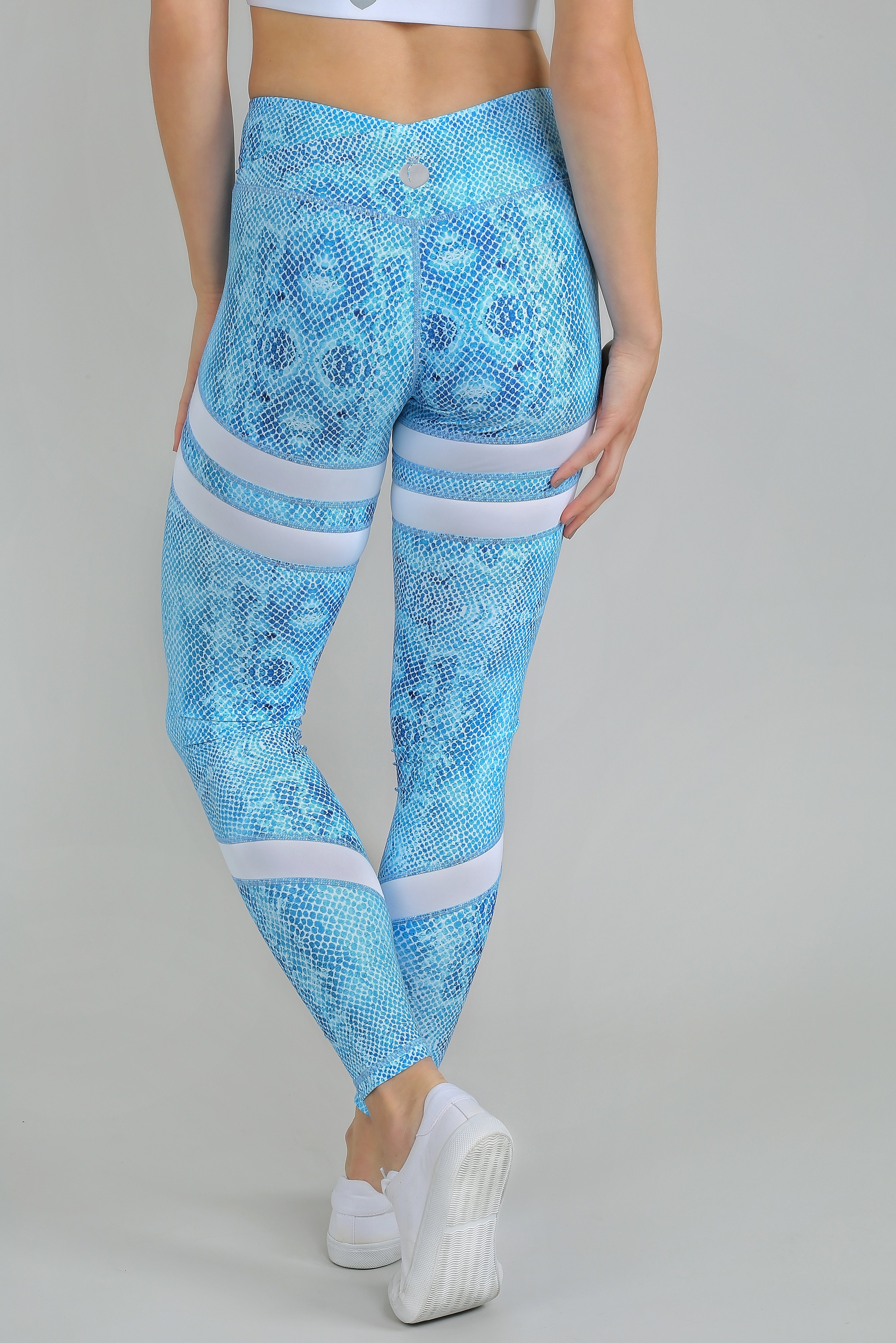Booty Up High Waisted Gym Yoga Legging Blue Coral