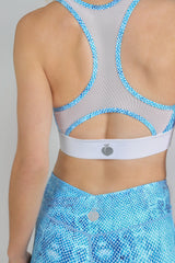 Blue Coral 'Freedom Racer' Sports Bra