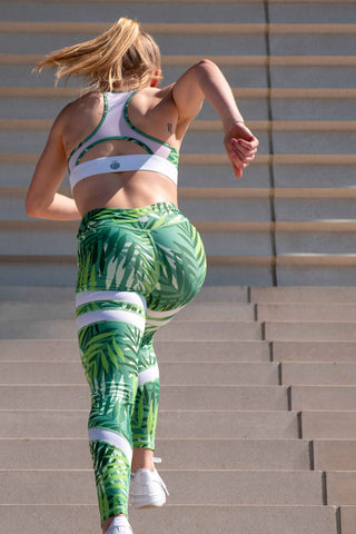 Booty Up High Waisted Gym Yoga Legging Palm Vibes