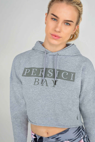 Crop To It Hoodie Cool Grey