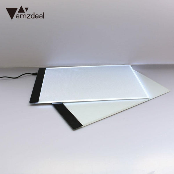 AMZDEAL A4 LED Light Drawing Board Stencil Tracing Draw Pervious Board