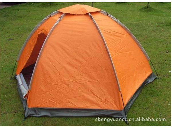 Outdoor waterproof portable 4-5 person 1 layer 1 door anti-sun anti- : insect tent - memphite.com