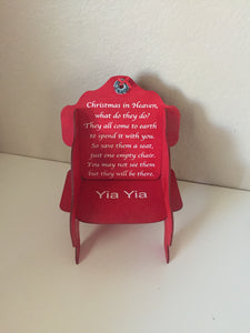Personalized Christmas in Heaven Chair