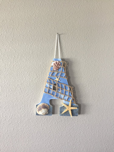 beach theme decor letter