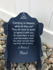 Personalized Camping in Heaven Chair