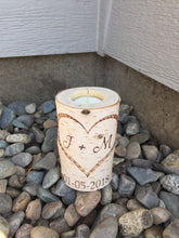 Personalized Heart Birchwood Candleholder