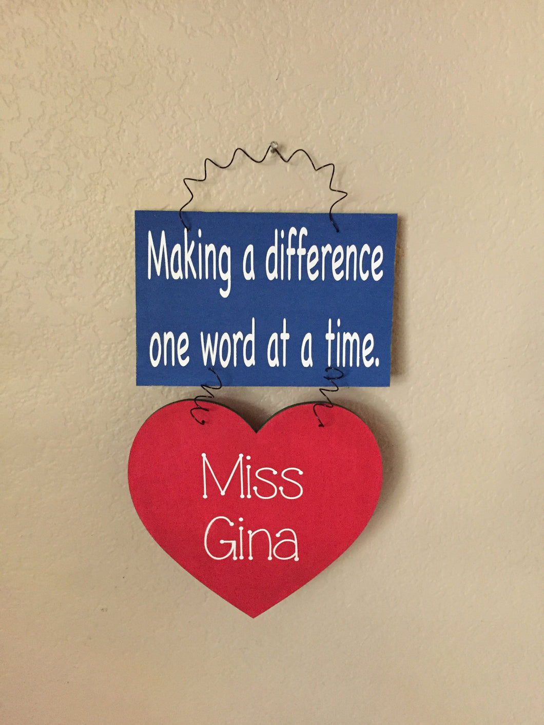 Personalized Speech Therapist Sign
