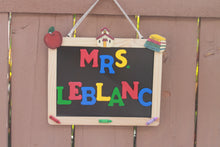 Personalized Teacher Chalkboard Sign