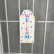 welcome easter wood tag sign