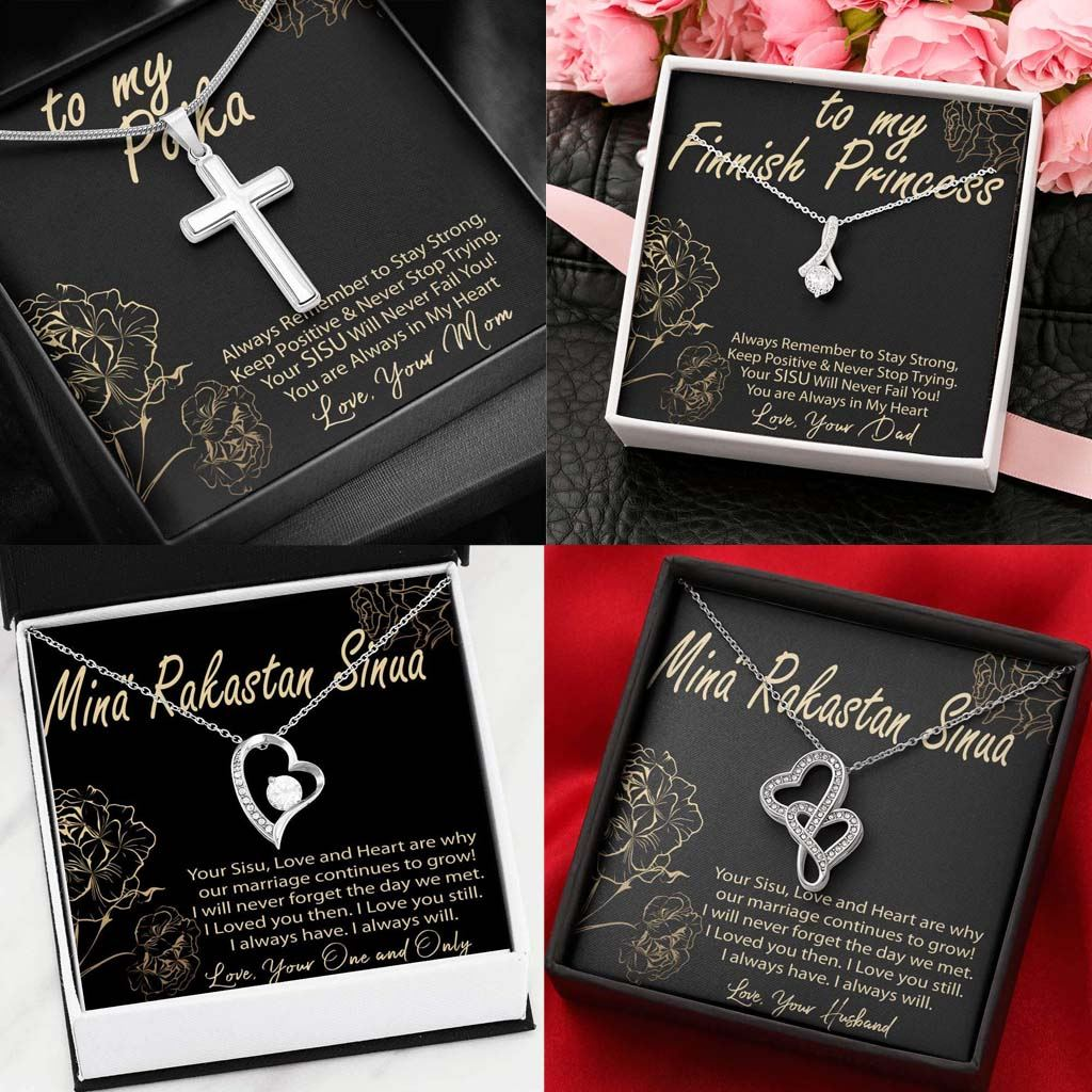 Finnish Jewelry with Message Card and Gift Box