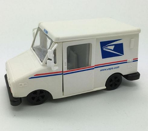 Postal Toy Mail Truck with working doors