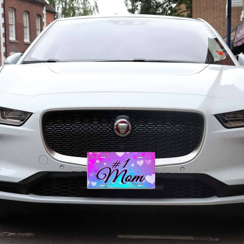 #1 Mom - Aluminum License Plate