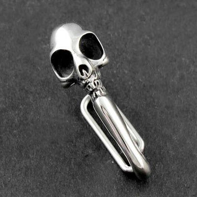 Solid Stainless Steel Skull Carabiner Key/Wallet Holder