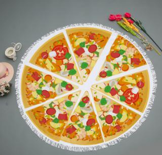 Round Pizza Blanket for beach with Tassels