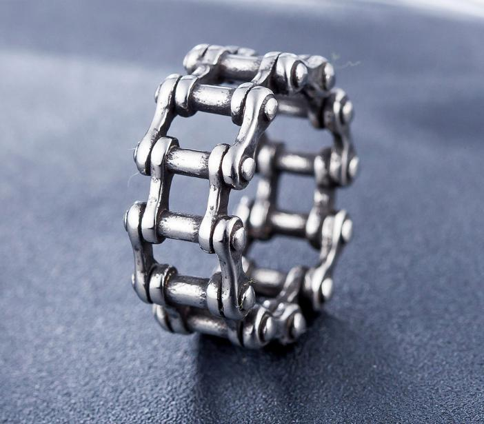 Stainless Steel Link Chain Motorcycle Ring