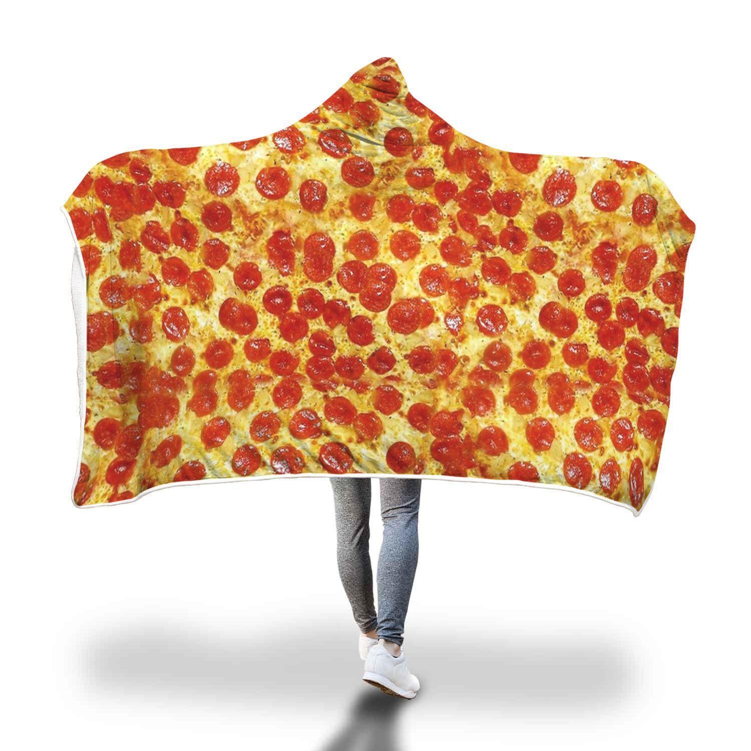 Hooded Pizza Blanket for the pizza lover