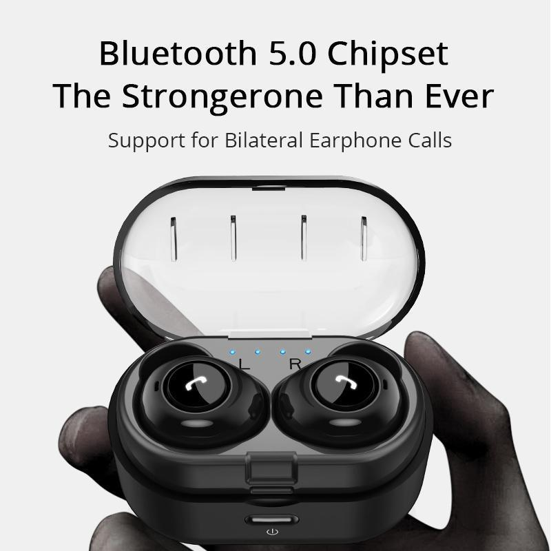 Wireless Earbuds Bluetooth 5.0 Bass 3D Stereo with Dual Mic for Phone