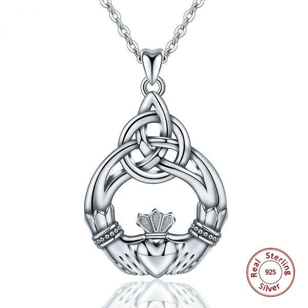 925 Sterling Silver Claddagh Necklace