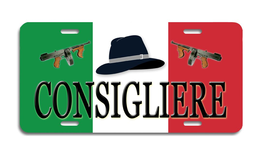 Consigliere - Aluminum License Plate
