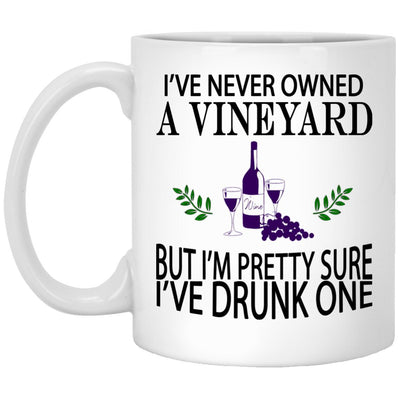 Drunk A Vineyard Mugs Wine Lover Gift