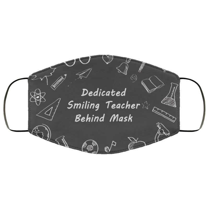 Dedicated Smiling Teacher Mask