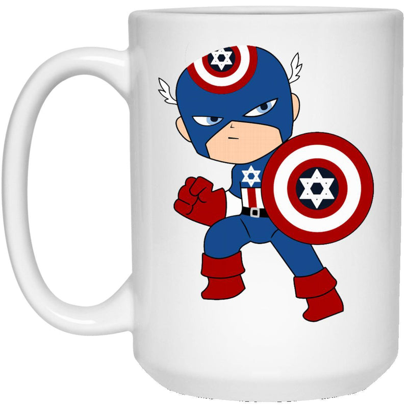 Captain Jewish American Mugs - 11oz & 15oz