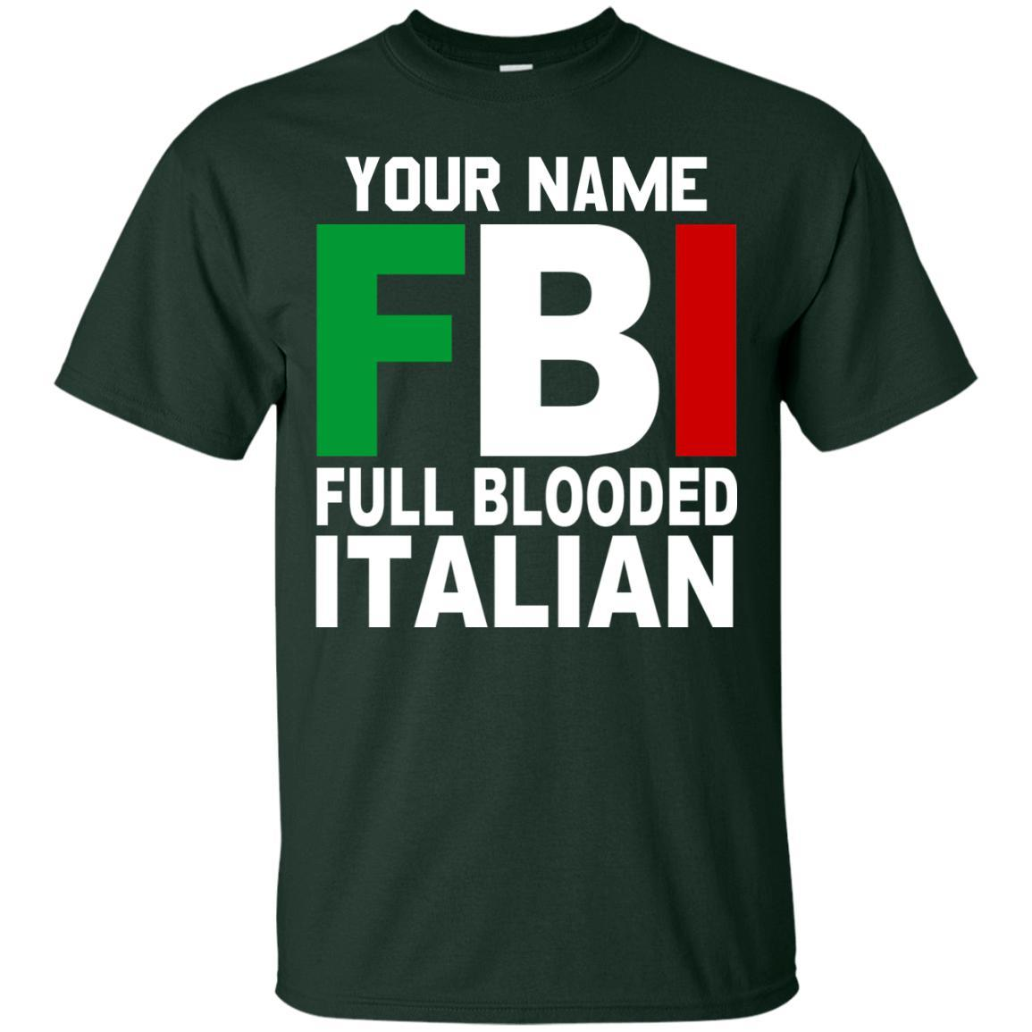 Customize with Your Name - FBI Shirts