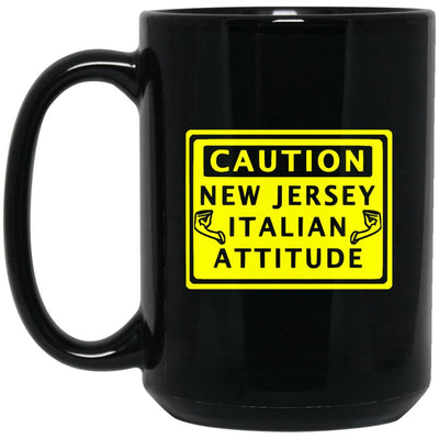 Caution New Jersey Italian Mugs