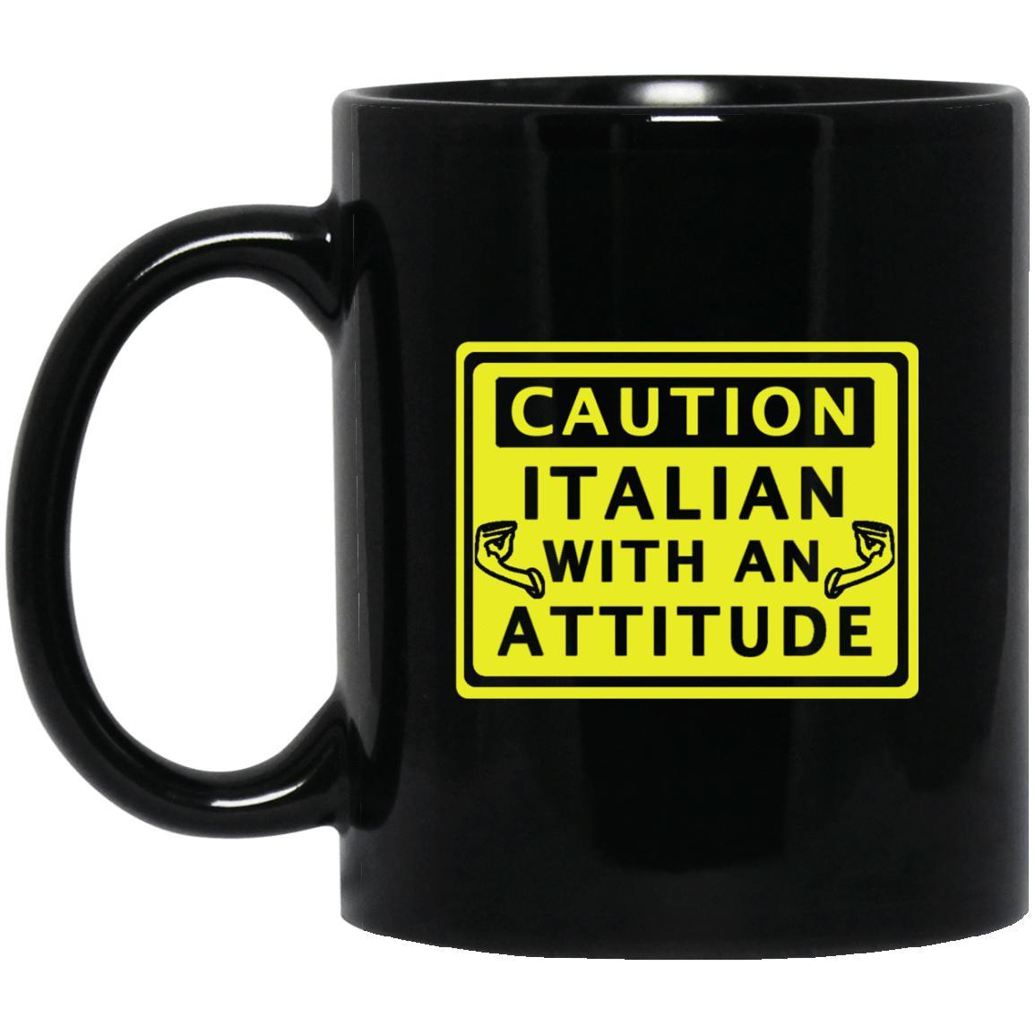 Caution Italian Mugs