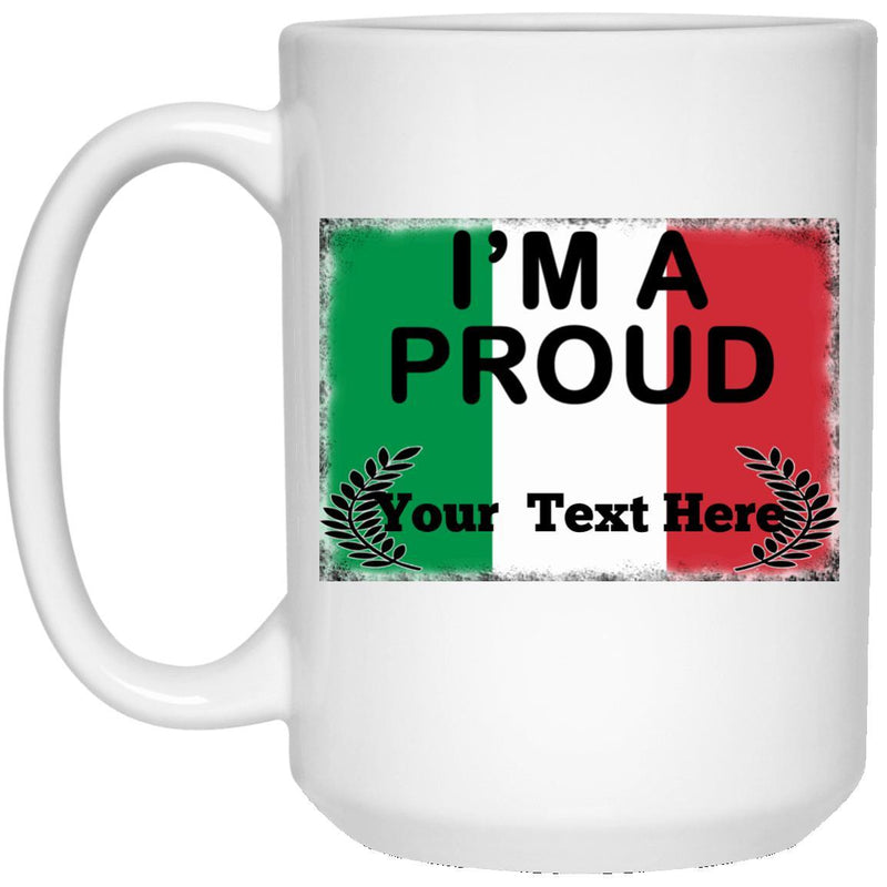 Custom Italian Pride Mugs. Great Italian gift