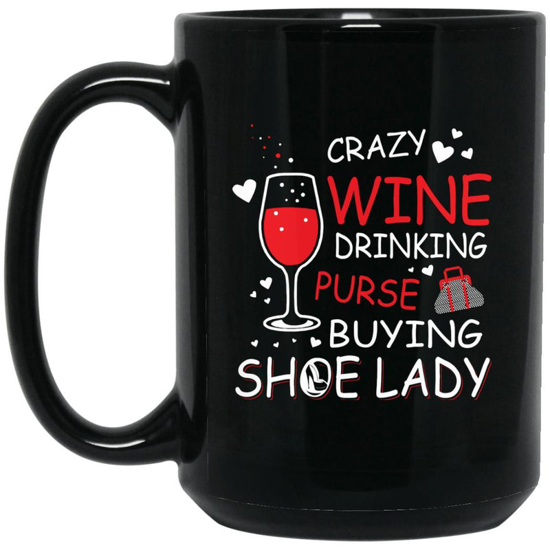 Crazy Wine Purse Shoe Mugs