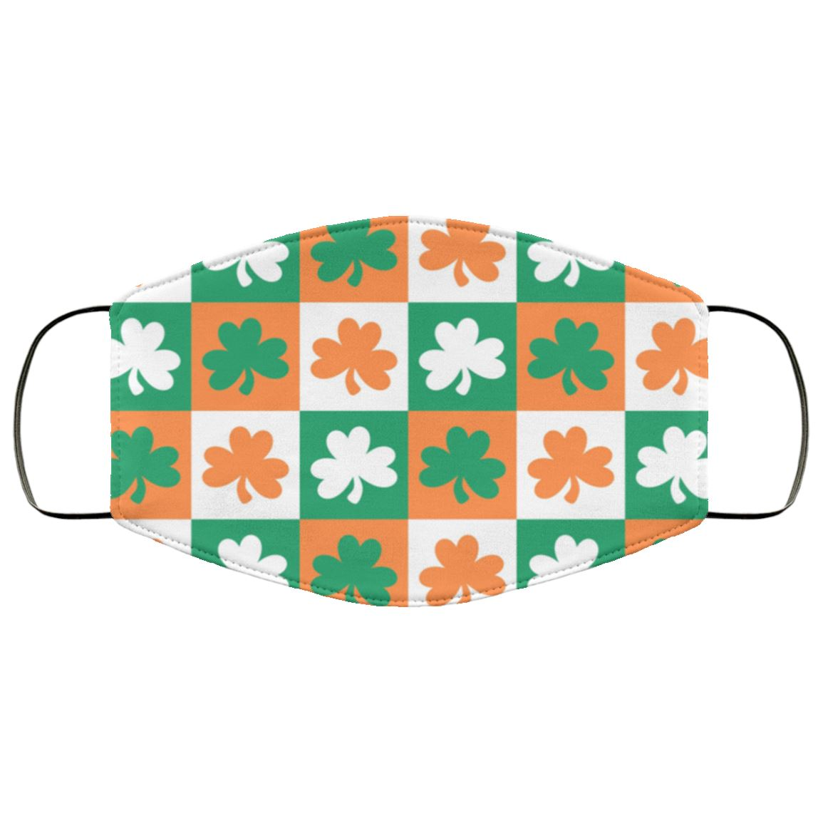 Irish Shamrock Face Cover