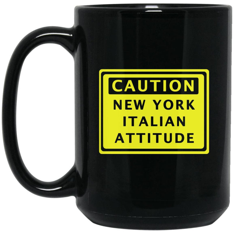 Caution New York Italian Mugs