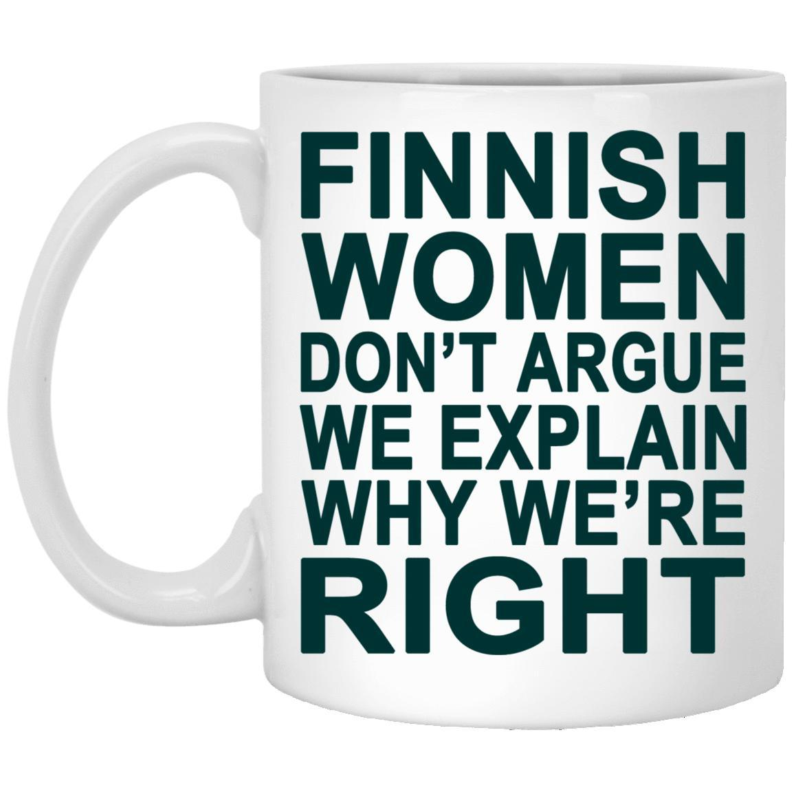 Finnish Women Don't Argue Mugs