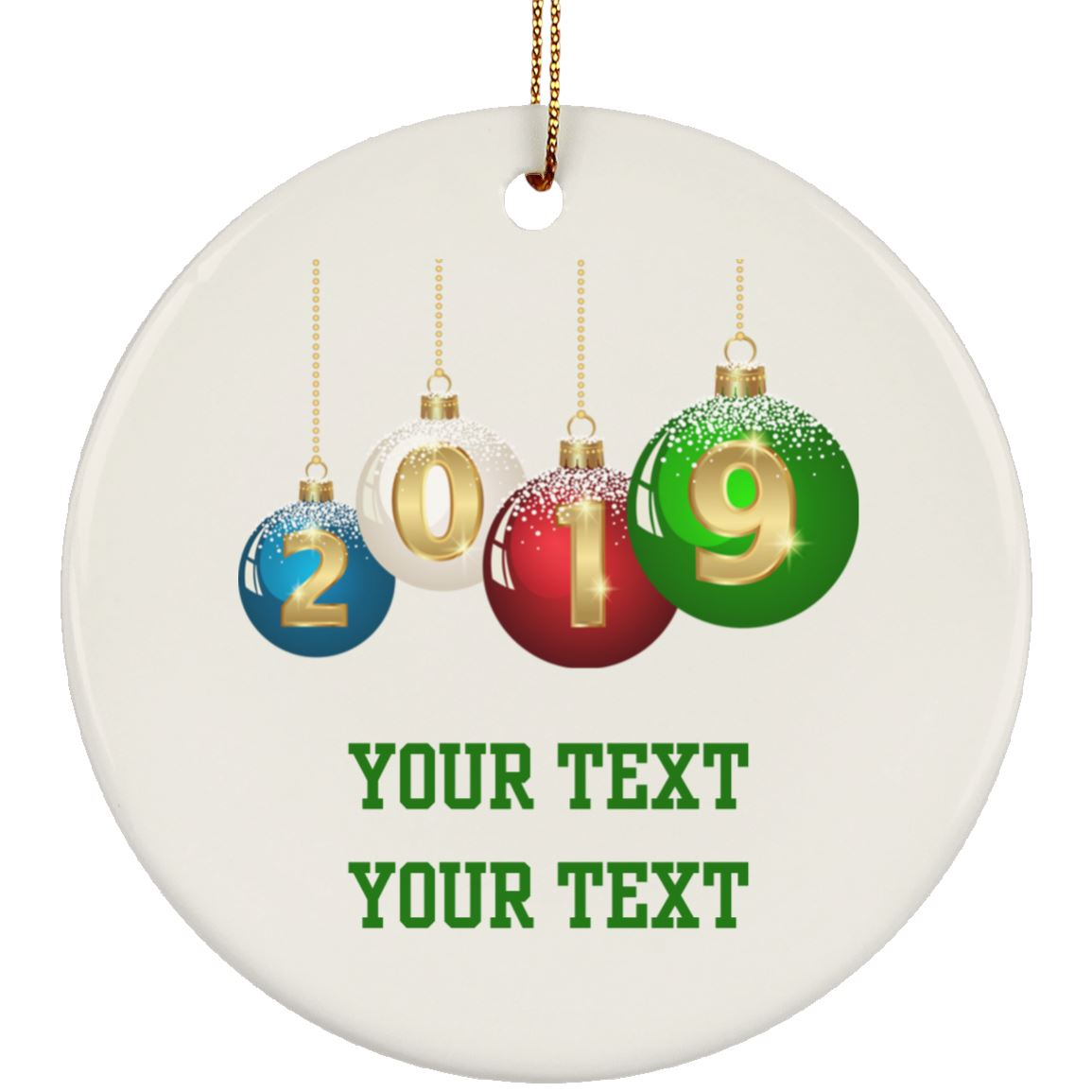 2019 Christmas Ornaments - Personalize
