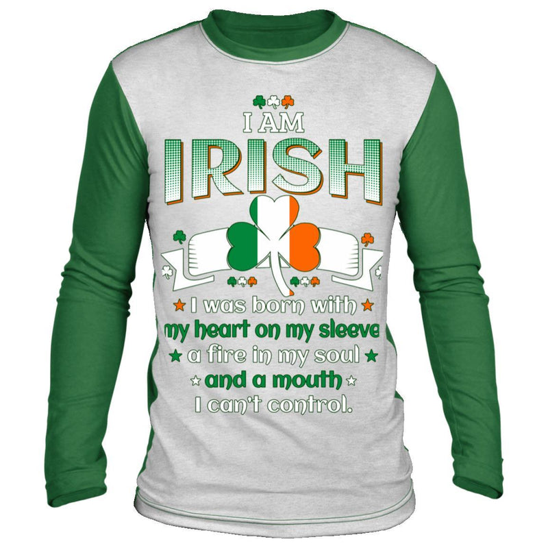 I Am Irish St Patrick's Day Long Sleeve Shirt