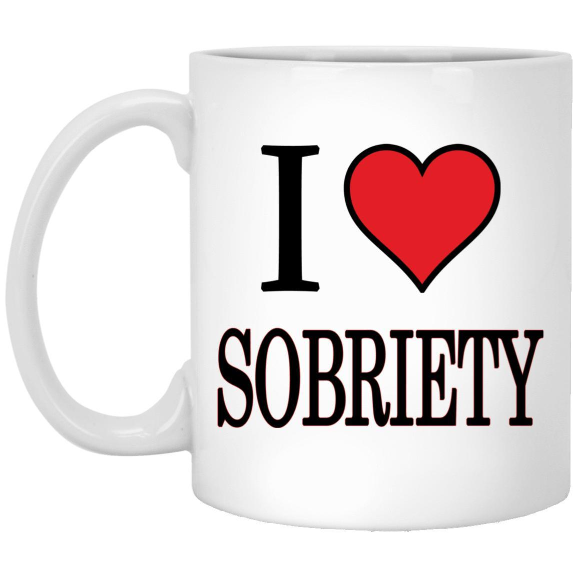 I Love Sobriety AA Alcoholics Anonymous Mug