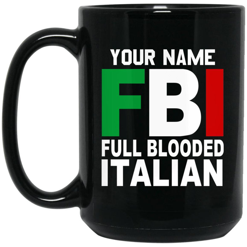 Customize with a name - FBI Mugs