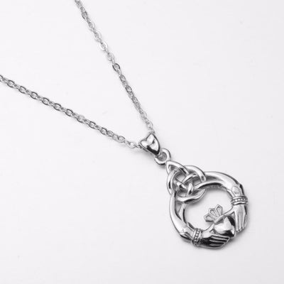 Sterling Silver Claddagh Necklace