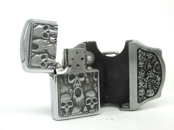 Belt Buckle Skull Lighter - Free US Shipping