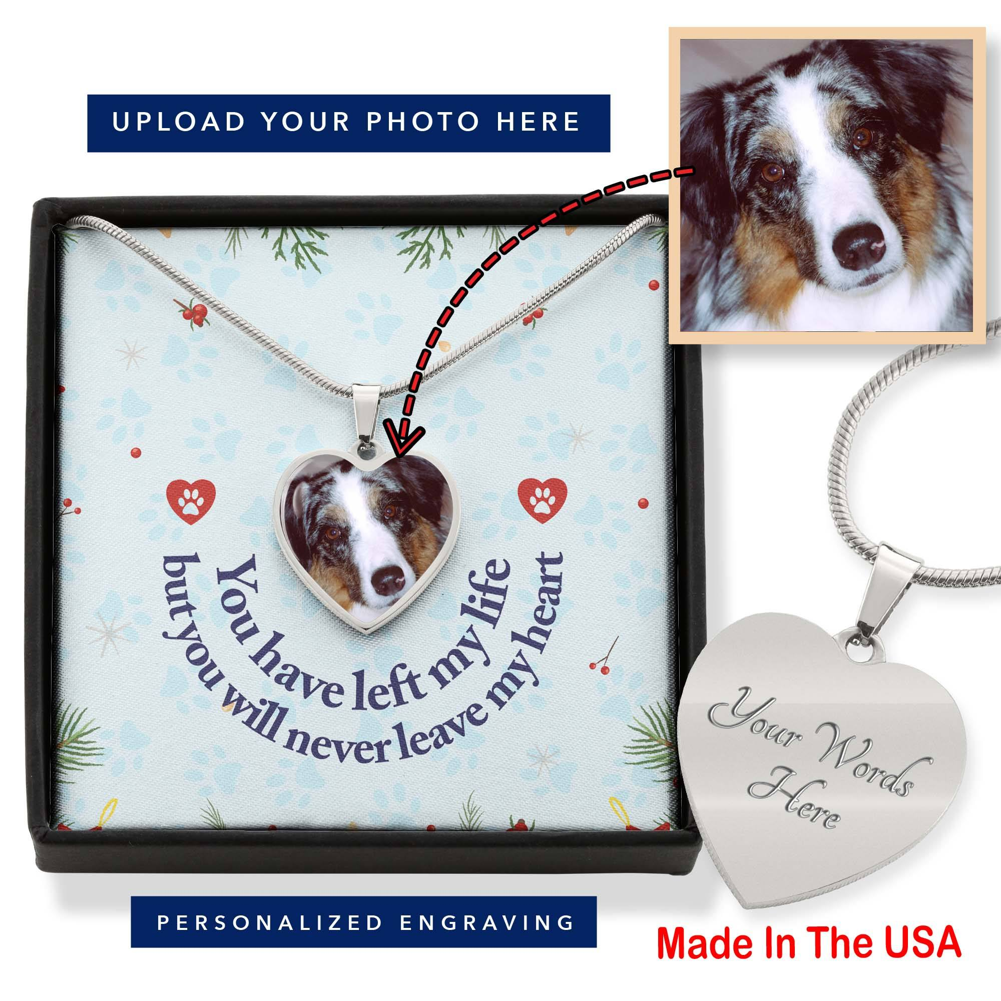 Pet Remembrance Necklace - Upload Photo and Engrave