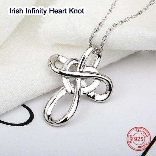 Irish Infinity Heart Knot Sterling Silver 925