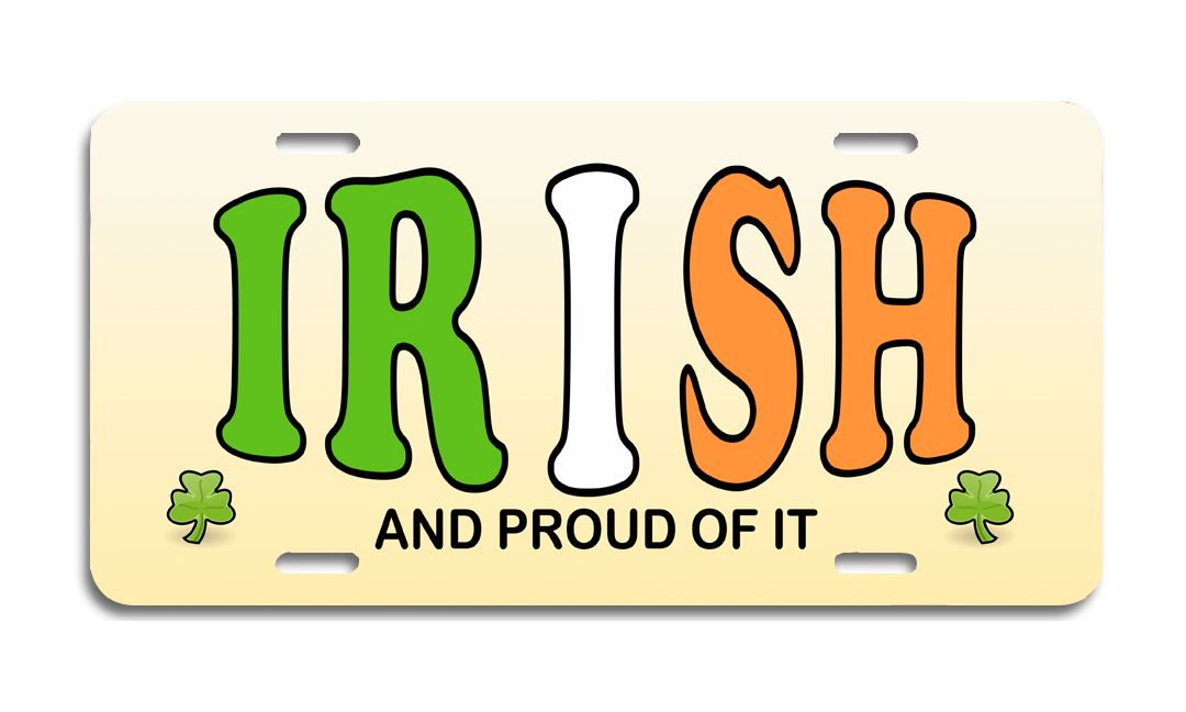 Irish Pride - Aluminum License Plate