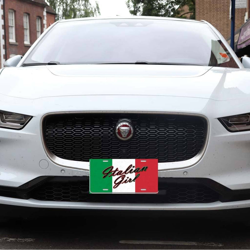 Italian Girl - Aluminum License Plate
