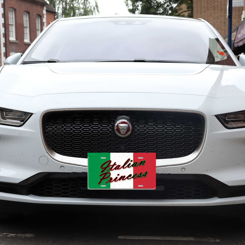 Italian Princess - Aluminum License Plate