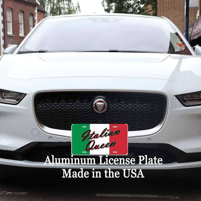 Italian Queen - Aluminum License Plate