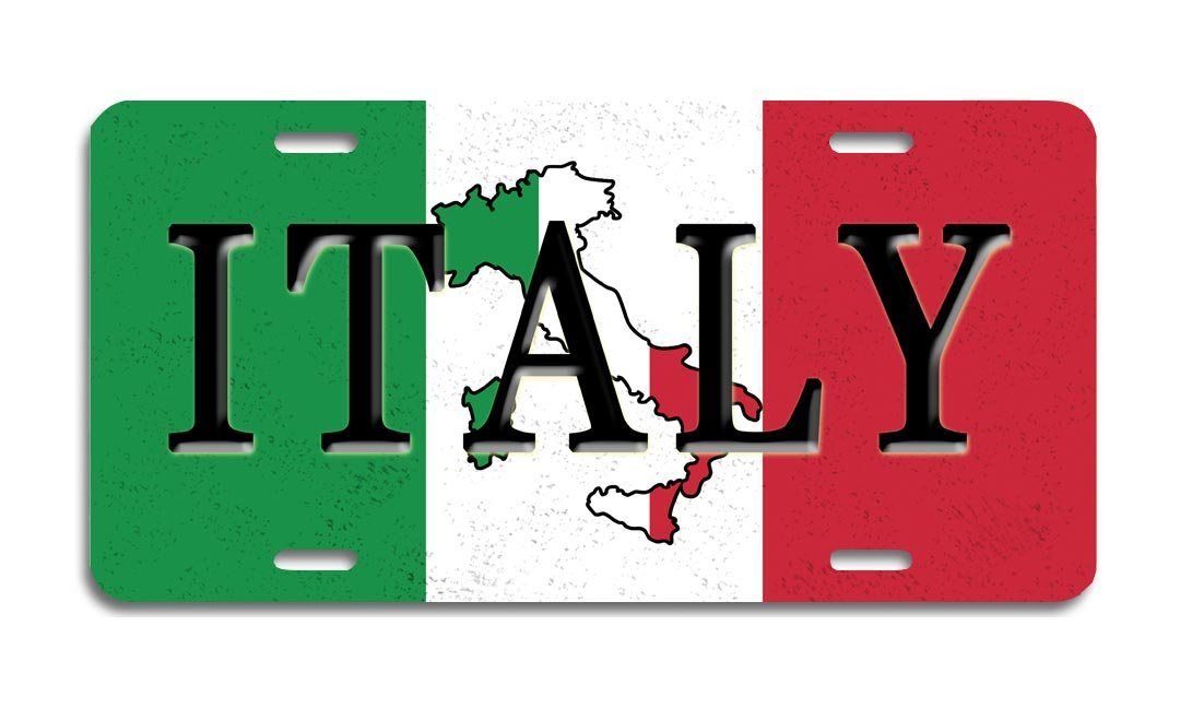 Italy - Aluminum License Plate
