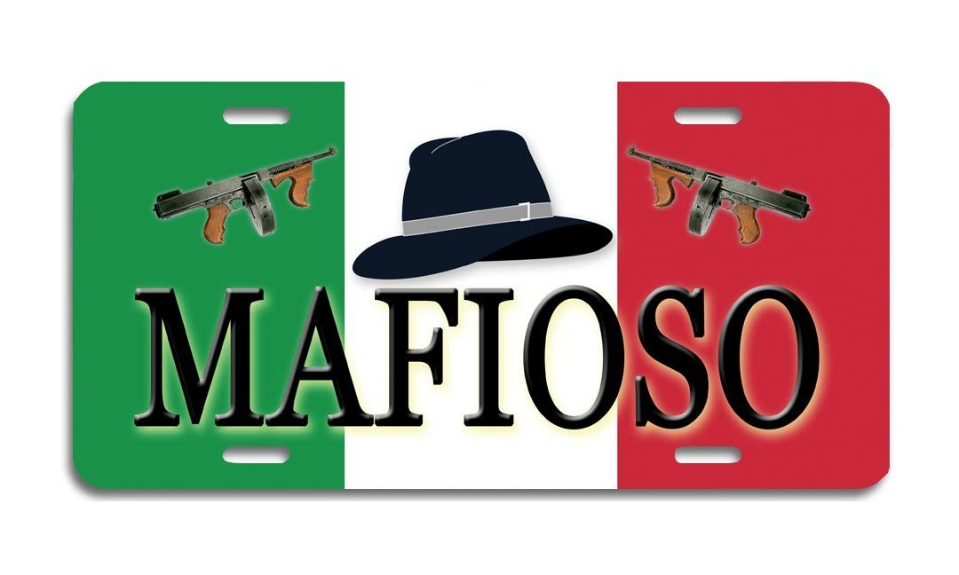 Mafioso - Aluminum License Plate