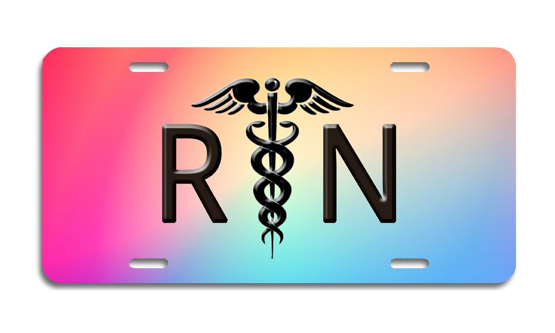 RN Aluminum  - License Plate