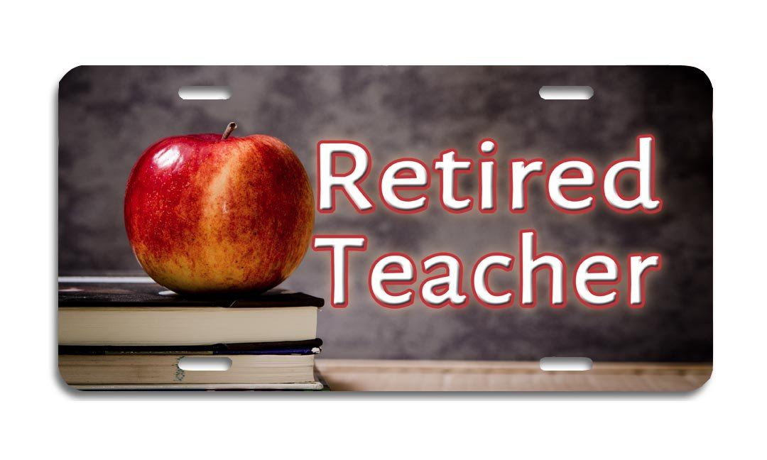 Retired Teacher - Aluminum License Plate